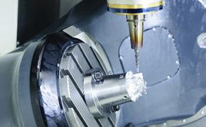 precision machine in use