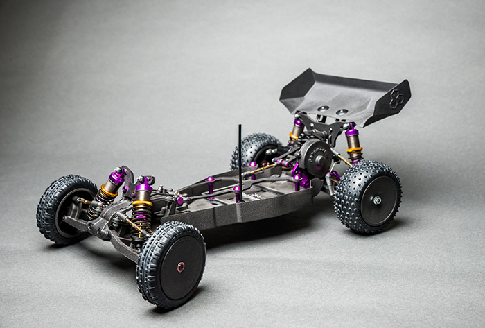 black parked sports car