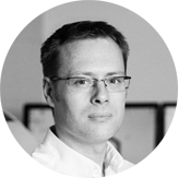 black and white head shot of the company managing director