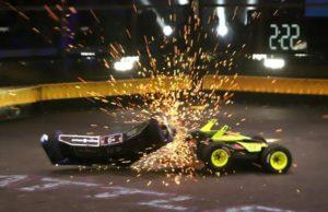 bumper cars in an arena