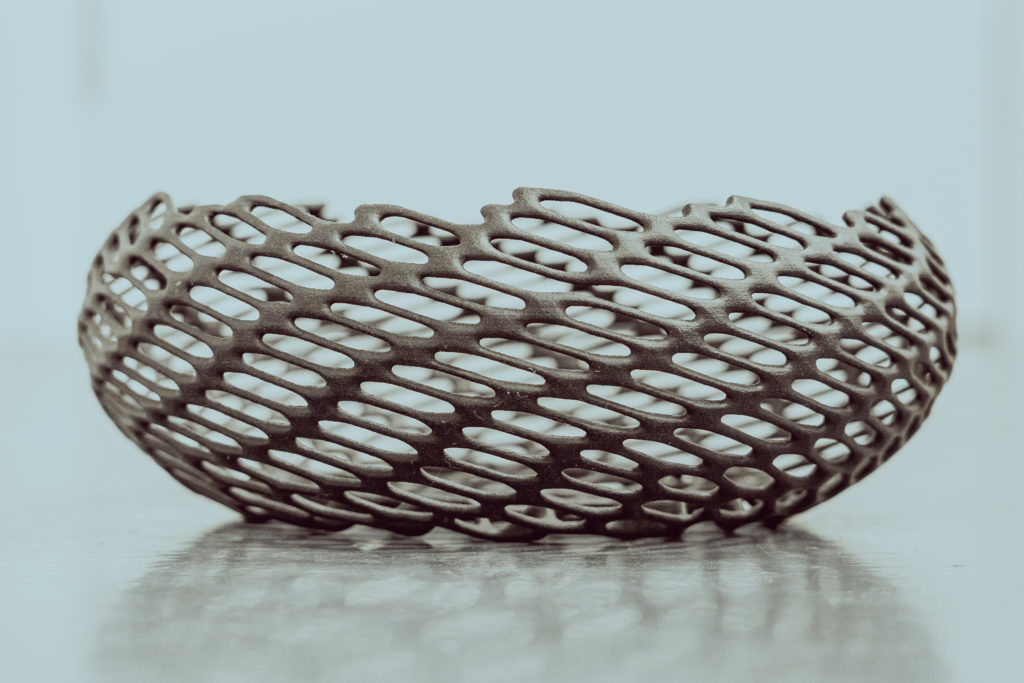 Custom made 3d printed bowl